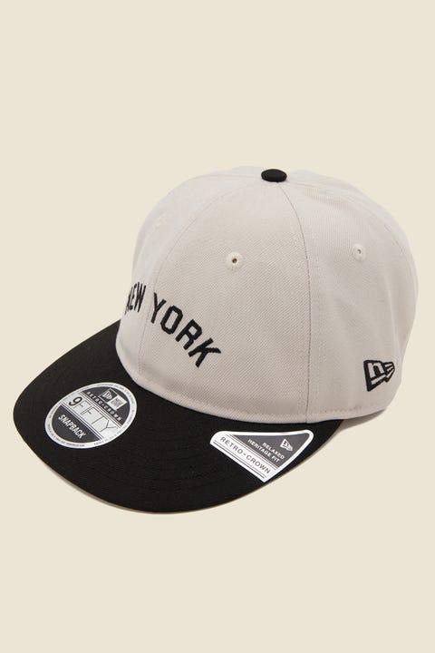 NEW ERA 9Fifty Retro Crown NY Yankees Snapback Stone/Black