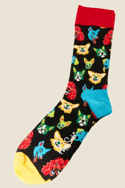 HAPPY SOCKS Funny Dog Sock Black/Multi