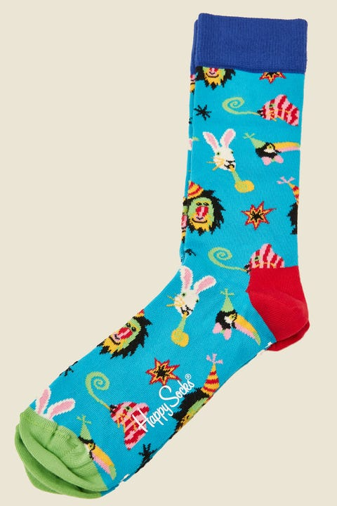 Happy Socks Party Animal Sock Teal