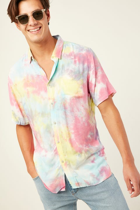 BARNEY COOLS Holiday SS Shirt Tie Dye