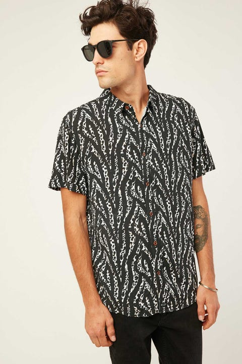 Kiss Chacey Revenge SS Casual Shirt Leopard Print
