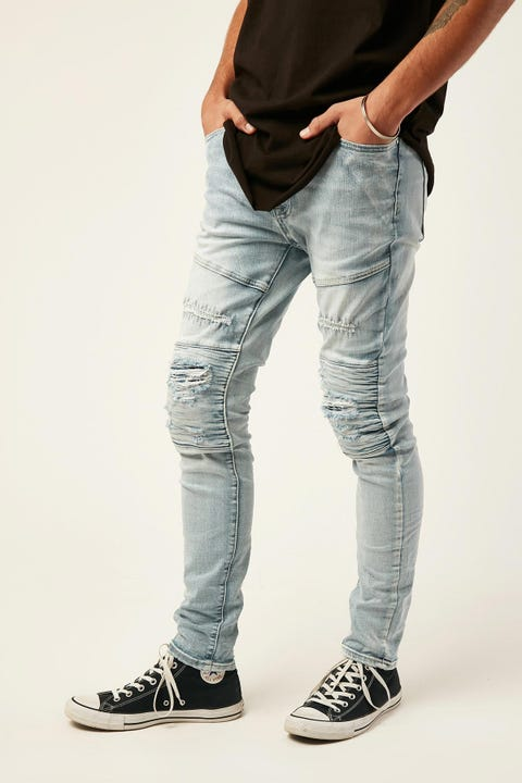 KISS CHACEY Downtown Biker Jean Sunburnt Blue