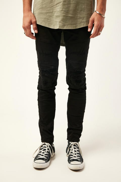 Kiss Chacey Downtown Biker Jean Jet Black