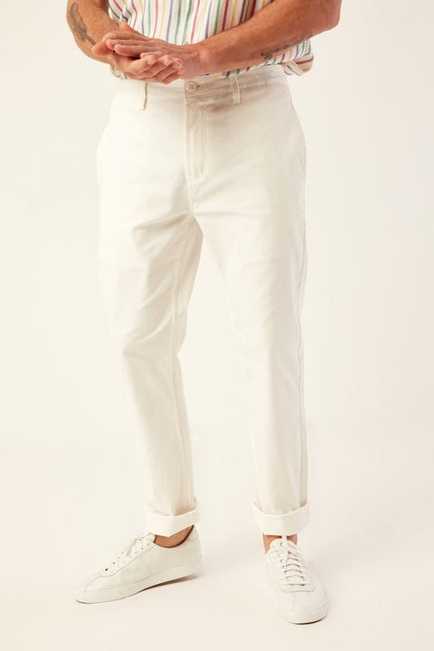 BARNEY COOLS B. Relaxed Chino White