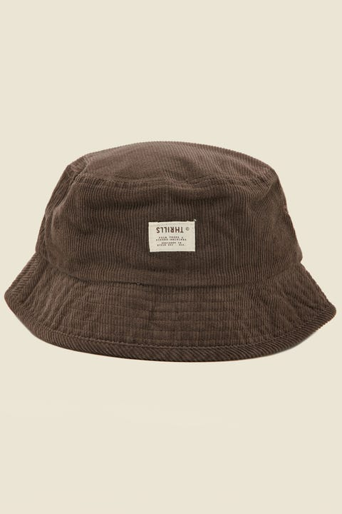THRILLS Liberty Bucket Hat Postal Brown Cord