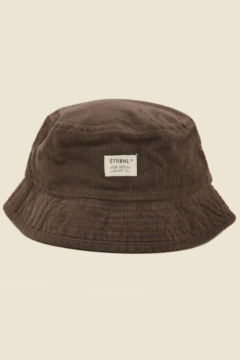 THRILLS Liberty Bucket Hat Postal Brown Cord