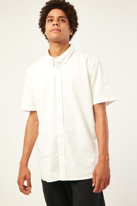 COMMON NEED Sylvester Short Sleeve Shirt White