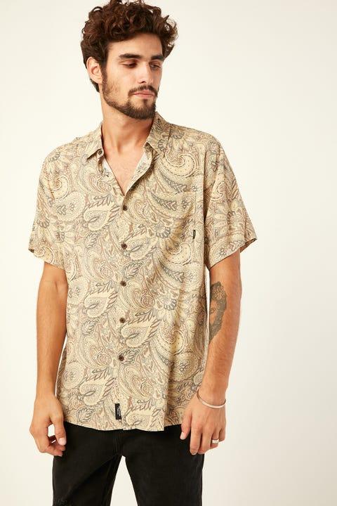 THRILLS Ornate Paradise SS Shirt Tan