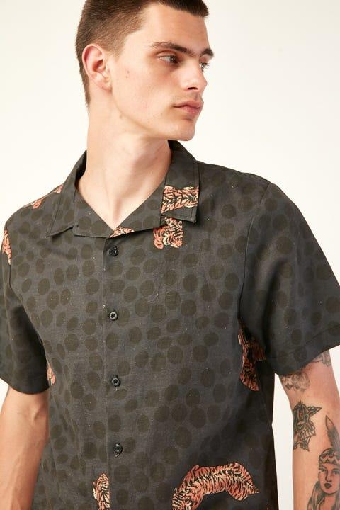 THRILLS Spinal Bowling Shirt Black