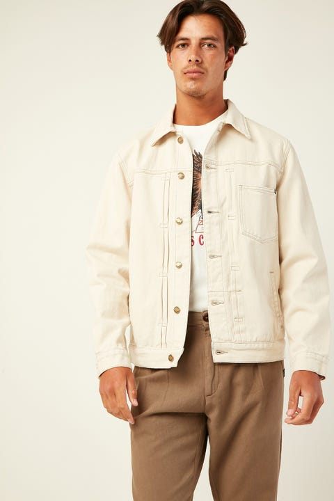 THRILLS Ryder Oversized Denim Jacket Shady White