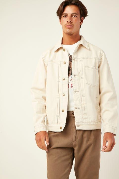 THRILLS Ryder Oversized Denim Jacket Shady White