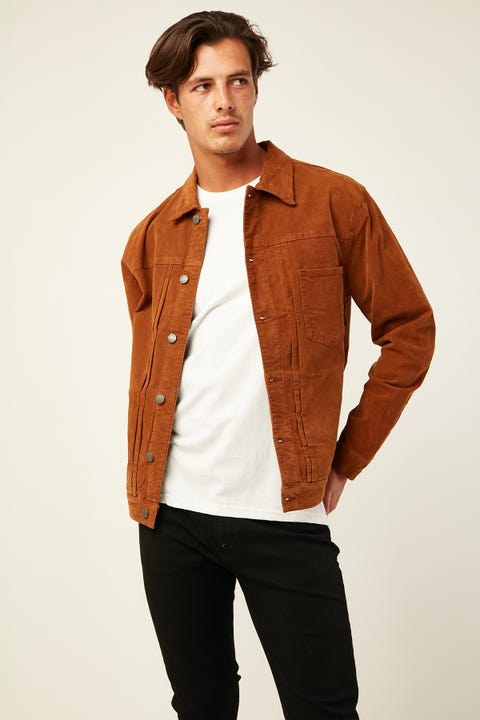 THRILLS REC Jacket Mustang Brown