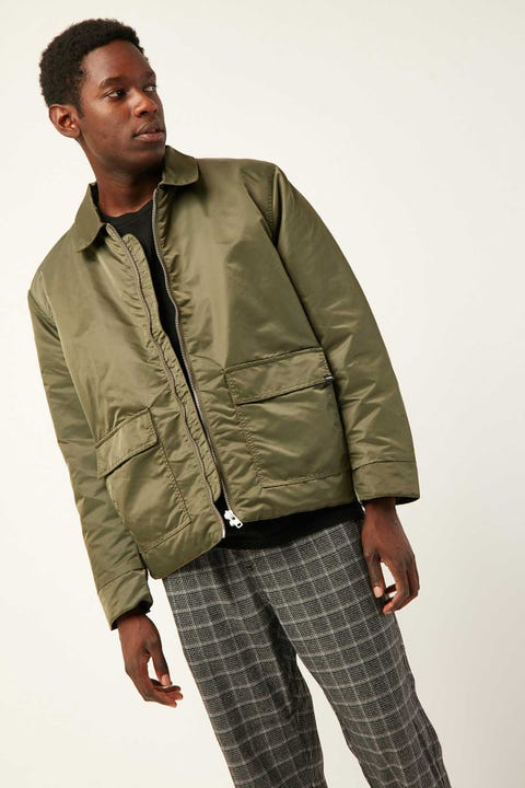 Thrills Division Flight Jacket Dark Olive