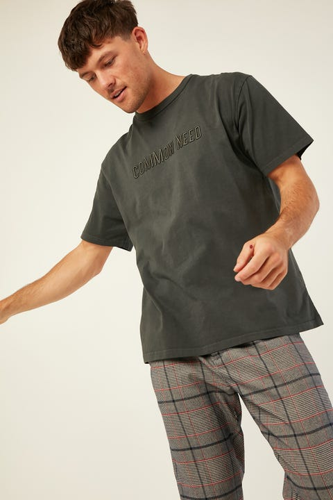 Common Need West Relaxed Tee Washed Black