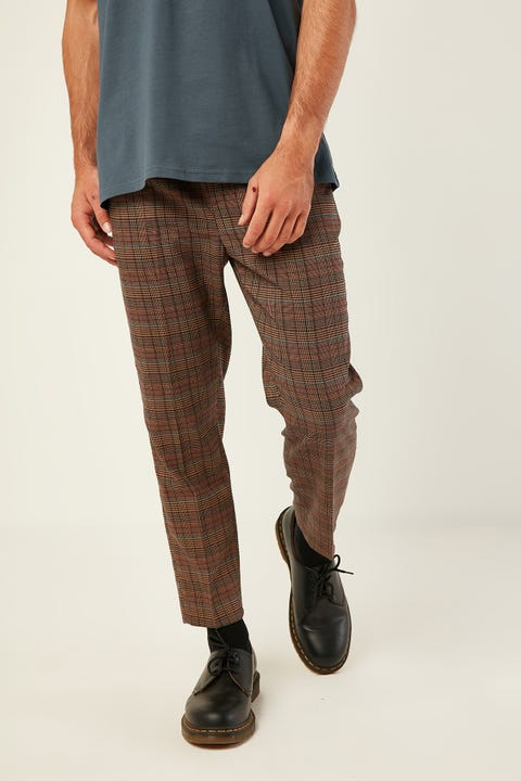 COMMON NEED Shoreditch Pant Brown/Red/Navy
