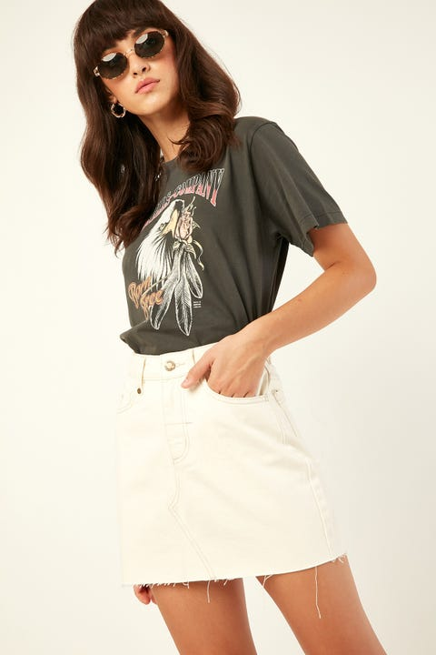 THRILLS Leni Skirt Shady White