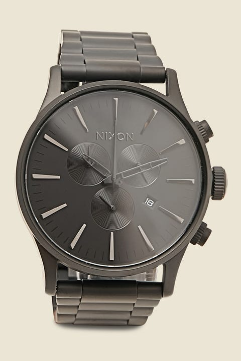 Nixon Sentry Chrono SS Matte Black/Polished Black
