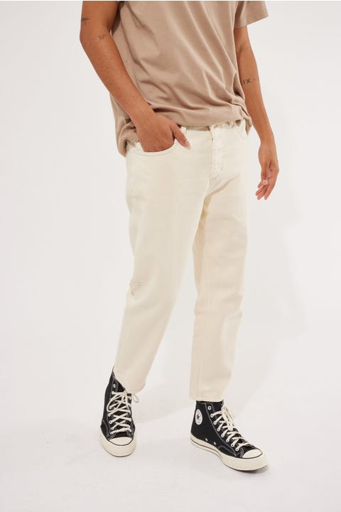 Thrills Chopped Denim Jean Shady White