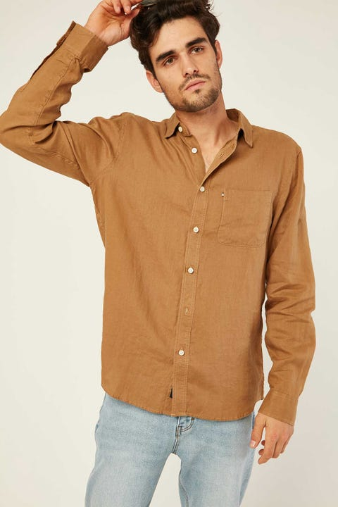 THE ACADEMY BRAND Hampton LS Shirt Tan