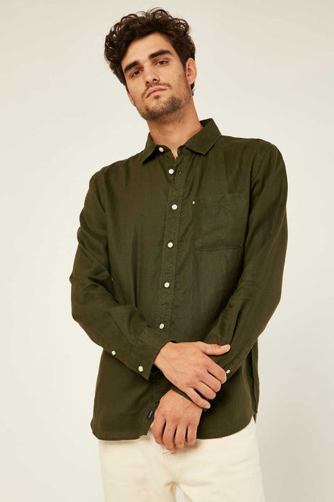 THE ACADEMY BRAND Hampton LS Shirt Moss