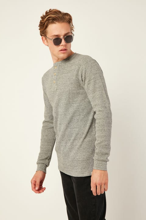 Academy Brand Sycamore LS Henley Grey Marle