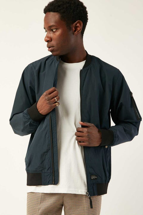 THE ACADEMY BRAND Essential Bomber Navy