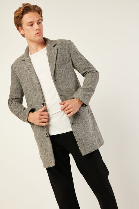 Academy Brand Draper Coat Black/White