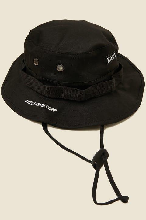 STUSSY Corp. Boonie Hat Black