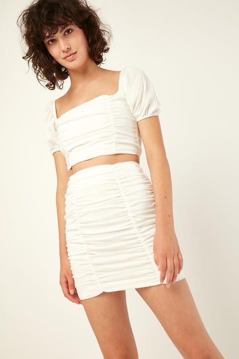 PERFECT STRANGER Venice Skirt White