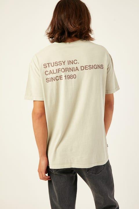 STUSSY Design Text SS Tee Light Sand