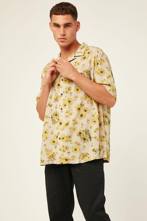 STUSSY Daisy SS Rayon Shirt Tan