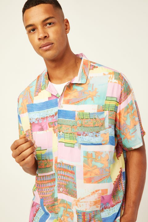 BARNEY COOLS Holiday Camp-Collar Miami Day Shirt Miami Day