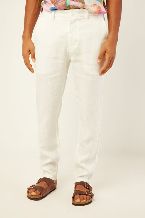 BARNEY COOLS B.Relaxed Pant White Linen