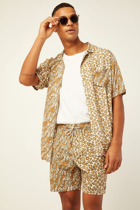 BARNEY COOLS Holiday Camp-Collar Safari Shirt Safari