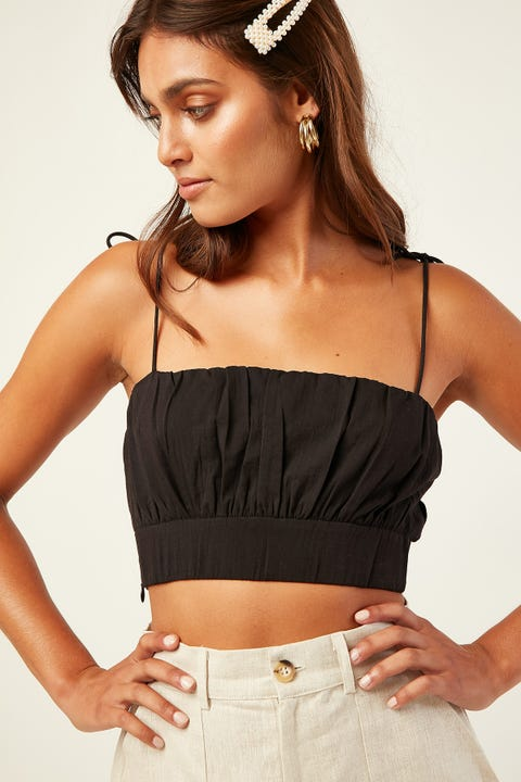 Perfect Stranger Needed Me Crop Top Black
