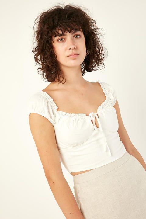 Perfect Stranger Goddess Top White