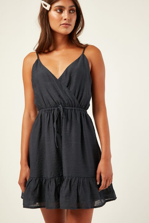 LUCK & TROUBLE Into You Dress Charcoal