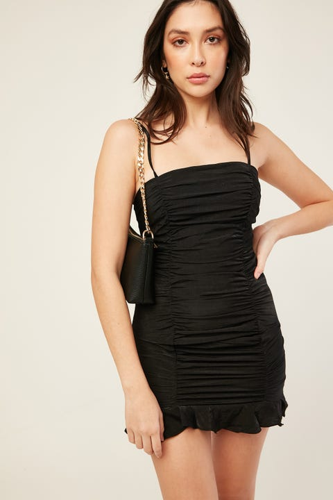 PERFECT STRANGER Be Mine Mini Dress Black