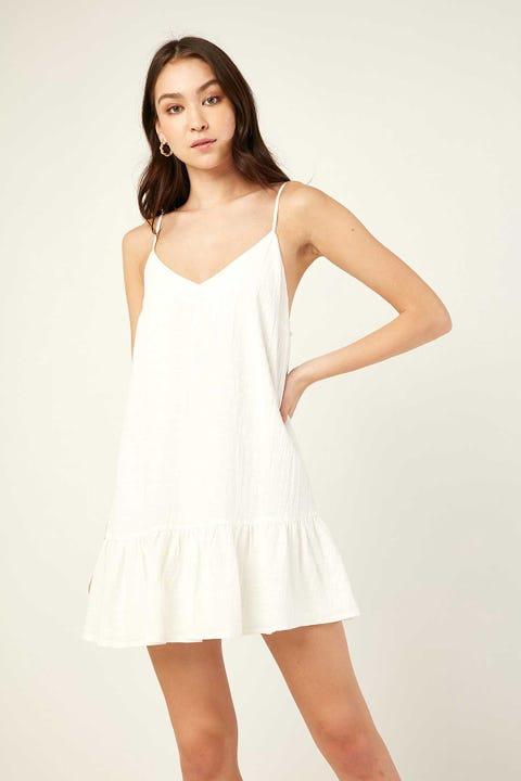 LUCK & TROUBLE Coastal Mini Dress White