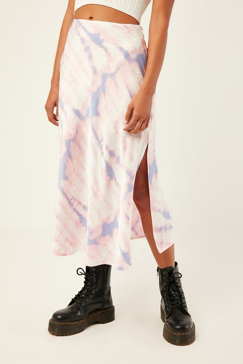 LUCK & TROUBLE Tie Dye Midi Skirt