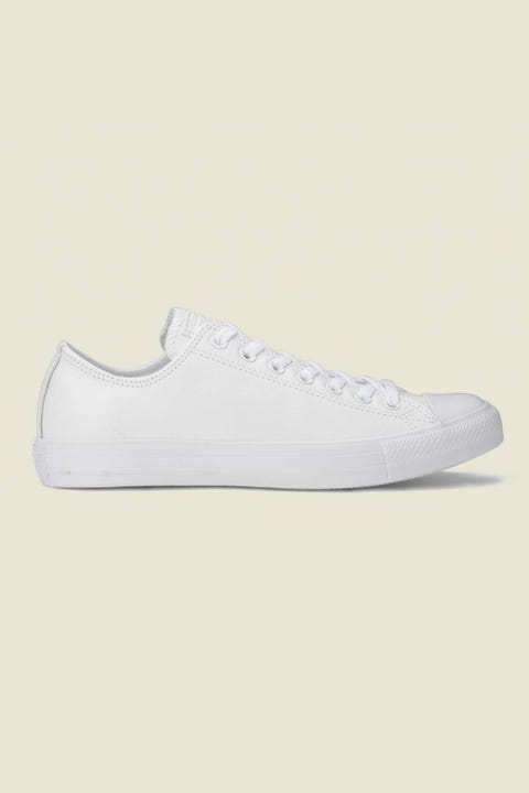 CONVERSE Womens CT All Star Ox Leather White Mono