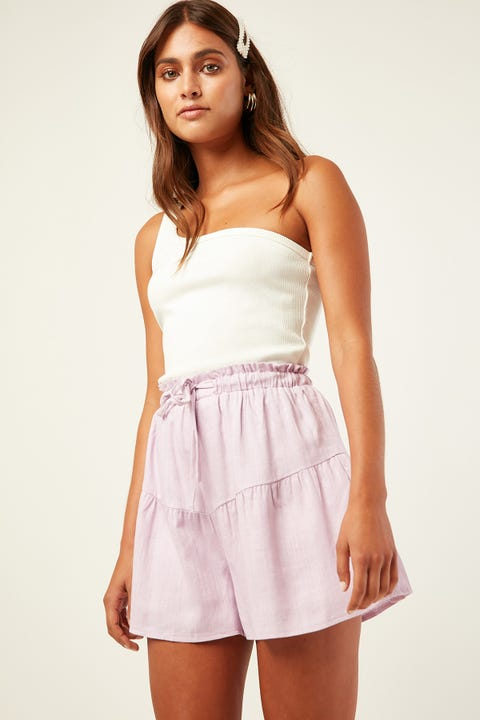 LUCK & TROUBLE Tiered Short Purple