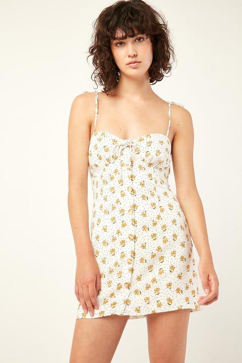 PERFECT STRANGER Aloha Mini Dress White Print
