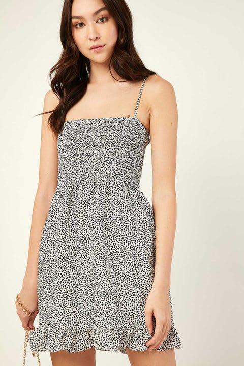 LUCK & TROUBLE Aries Mini Dress White Print