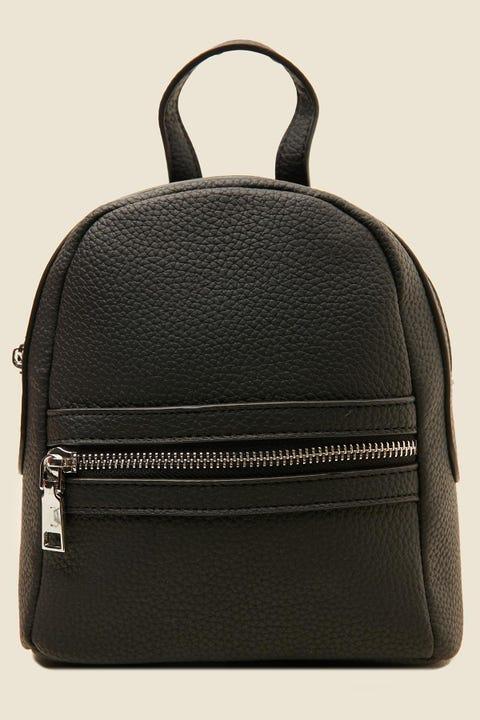 TOKEN Mini PU Leather Backpack Black