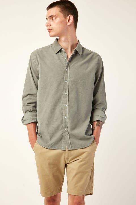 ASSEMBLY Mens Cord Shirt Mineral Green