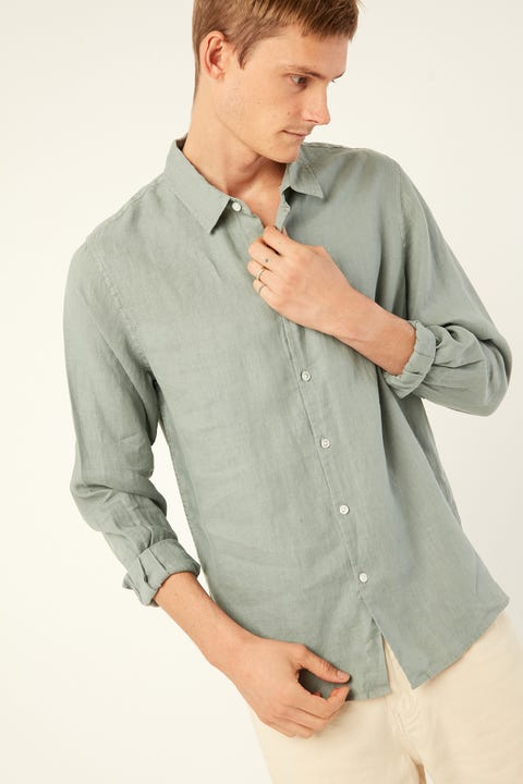 ASSEMBLY Casual LS Shirt Mineral Green