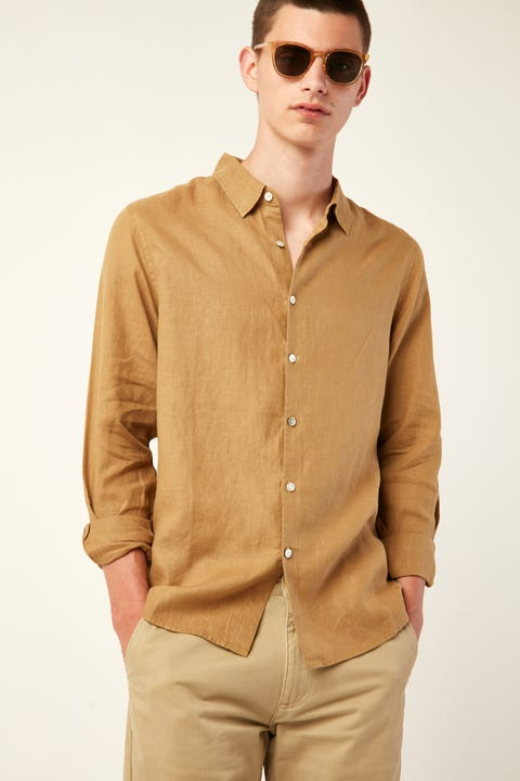 ASSEMBLY Casual LS Shirt Sepia