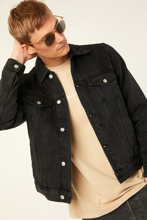 Assembly Renton Denim Jacket Washed Black