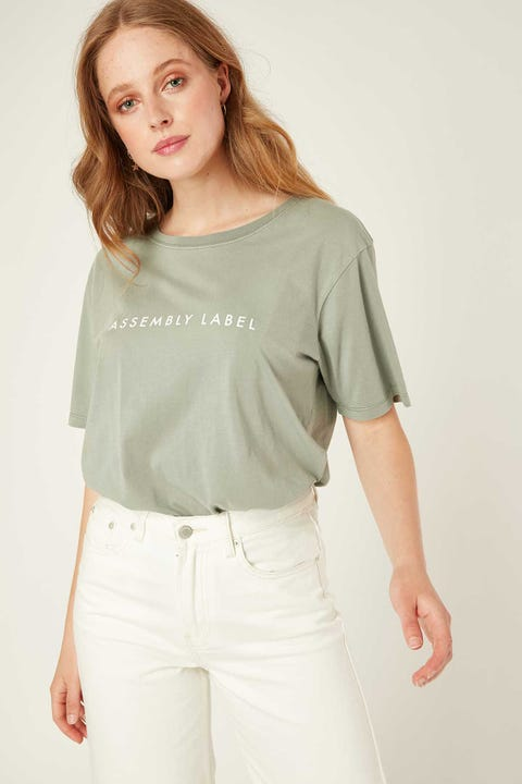 Assembly Logo Tee Mineral Green